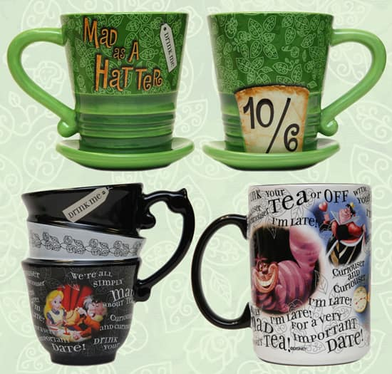 'Alice in Wonderland'-themed Coffee Mugs Available at Disney Parks