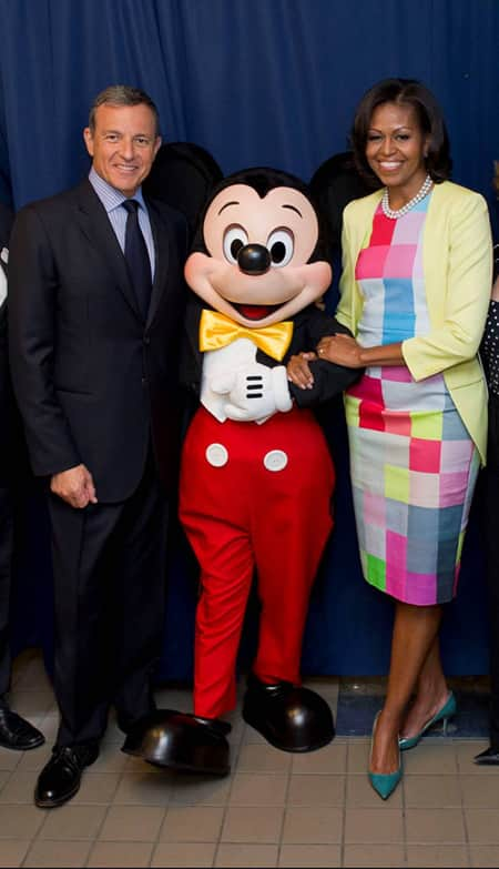 First Lady Michelle Obama and Disney Chairman and CEO Bob Iger in Washington, D.C. for Disney Magic of Healthy Living