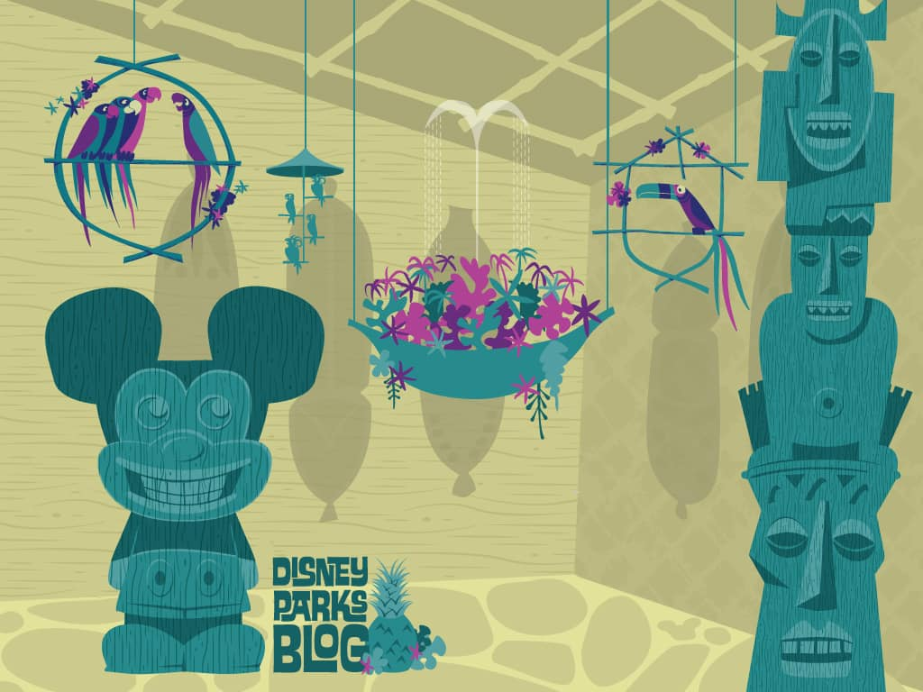 Desktop Wallpaper Featuring Walt Disney's Enchanted Tiki Room