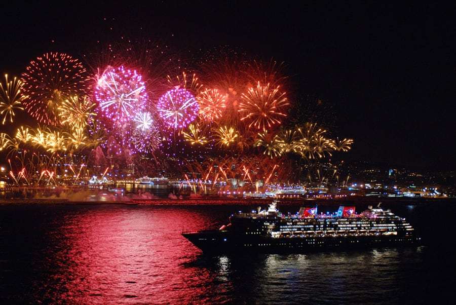 Image result for photo cruise ship fireworks