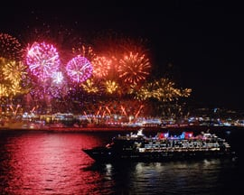 Fireworks Greet the Disney Magic as it Arrives to Barcelona for the First Time in 2007
