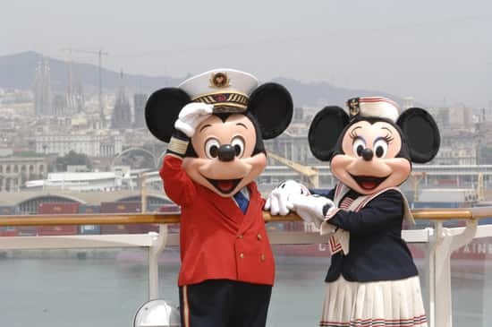 Mickey and Minnie Mouse in Barcelona with Disney Cruise Line