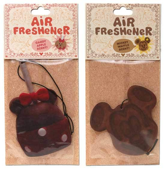 New Air Fresheners Coming to Disney Parks - Introducing the Candy Apple and Mickey Mouse Waffle