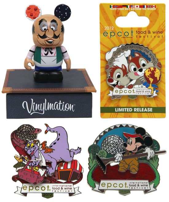 Vinylmation and Pins Available for the 2012 Epcot International Food & Wine Festival