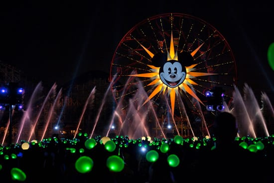 'Glow With the Show' Ears in Action During 'World of Color' at Disney California Adventure Park
