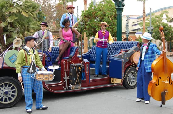 Five & Dime Performing on Buena Vista Street at Disney California Adventure Park