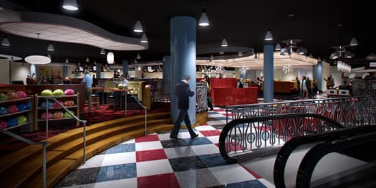 A Peek at the Interior of Splitsville, Coming This Fall to Downtown Disney at Walt Disney World Resort