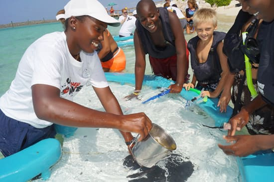 Local Children + Stingrays = Fun Eco Camp at Disney's Castaway Cay
