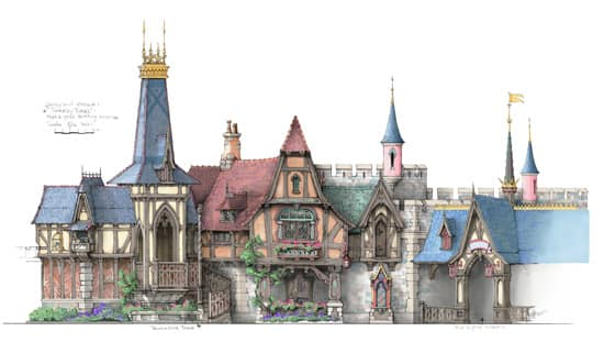Royal Hall at the New Fantasy Faire Coming to Disneyland Park in 2013