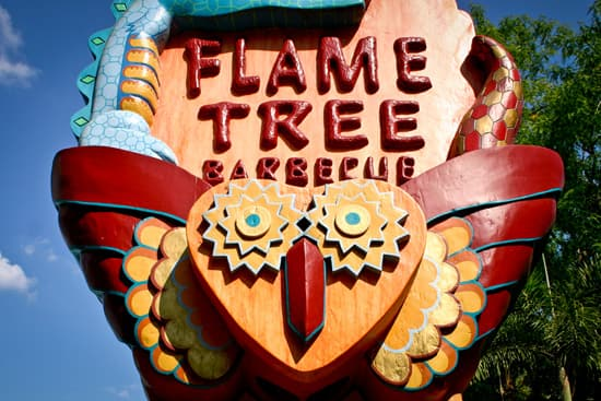 This Face Can Be Found at the Flame Tree Barbeque in Disney's Animal Kingdom Theme Park