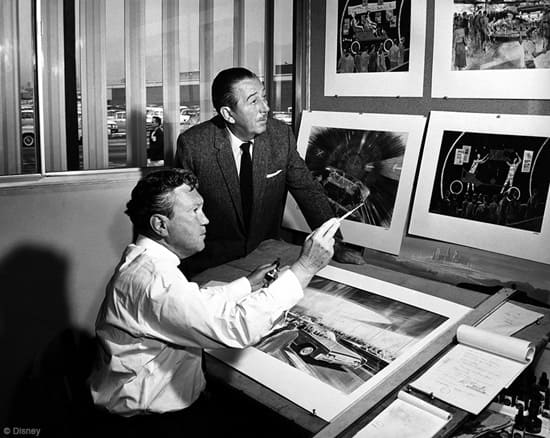 Walt Disney and Disney Legend Herb Ryman