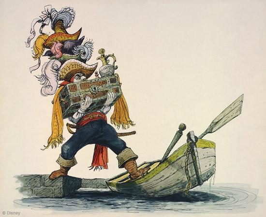 Artwork for Pirates of the Caribbean by Disney Legend Marc Davis