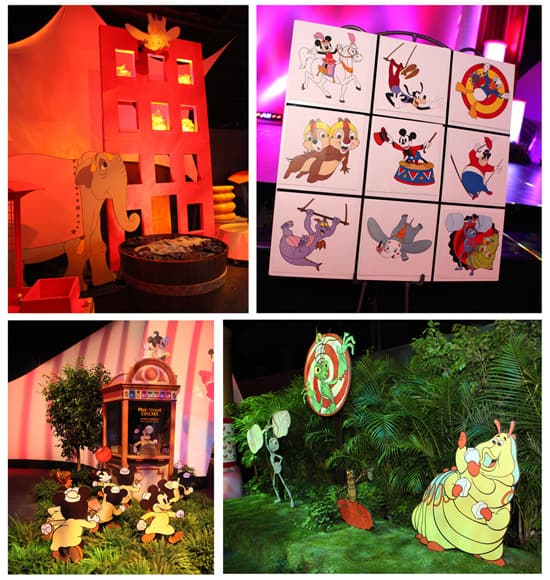 The Décor at Mickey's Circus Trading Event at Epcot