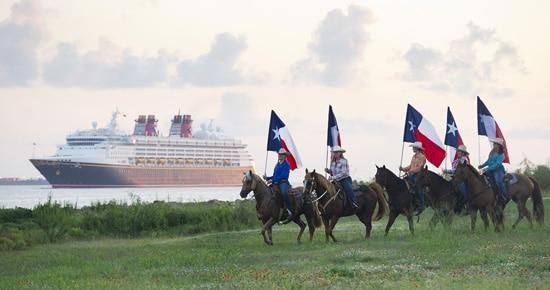 Houston's Ghostriders Greet the Disney Magic as She Sails into Galveston, Texas