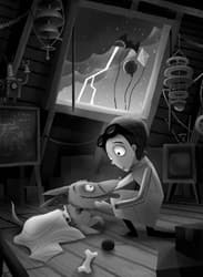 'Frankenweenie'-Inspired Artwork by Joey Chou Featuring Victor and Sparky to Debut at Disney California Adventure Park