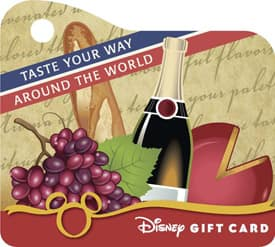Disney Gift Card Design for Epcot International Food & Wine Festival presented by Chase: 'Taste Your Way Around the World' Featuring Mini-Sized Wristlet
