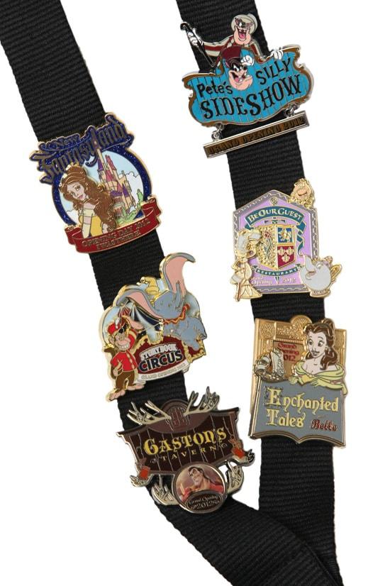 Pins Commemorating the Grand Opening of New Fantasyland at Magic Kingdom Park