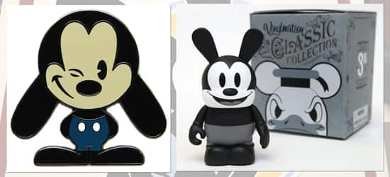 Oswald The Lucky Rabbit Pin and Vinylmation, Coming to Disney Parks