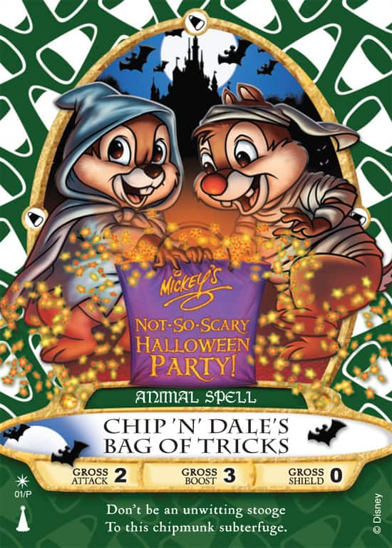 The 'Chip 'N' Dale's Bag of Tricks' Sorcerers of the Magic Kingdom Card, Available Only at Mickey's Not-So-Scary Halloween Party