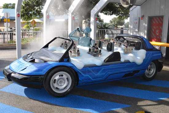 The New Test Track 'SimCar' on Display at Epcot
