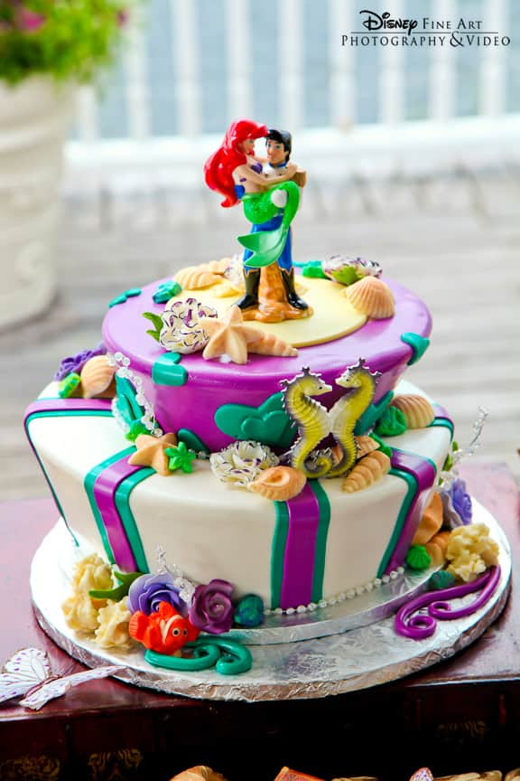 Marvelous Top 10 Disney Wedding Cakes Disney Parks Blog Personalised Birthday Cards Veneteletsinfo