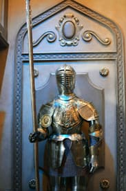 Suits of Armor at Be Our Guest Restaurant at Magic Kingdom Park
