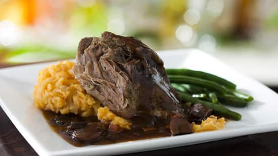 Roasted Pulled Pork from the Kids' Menu at Be Our Guest Restaurant in Magic Kingdom Park