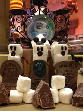 Oooey-Gooey Ghoulish Delights from the Disneyland Resort Candy Kitchens Featuring Marshmallow Ghost