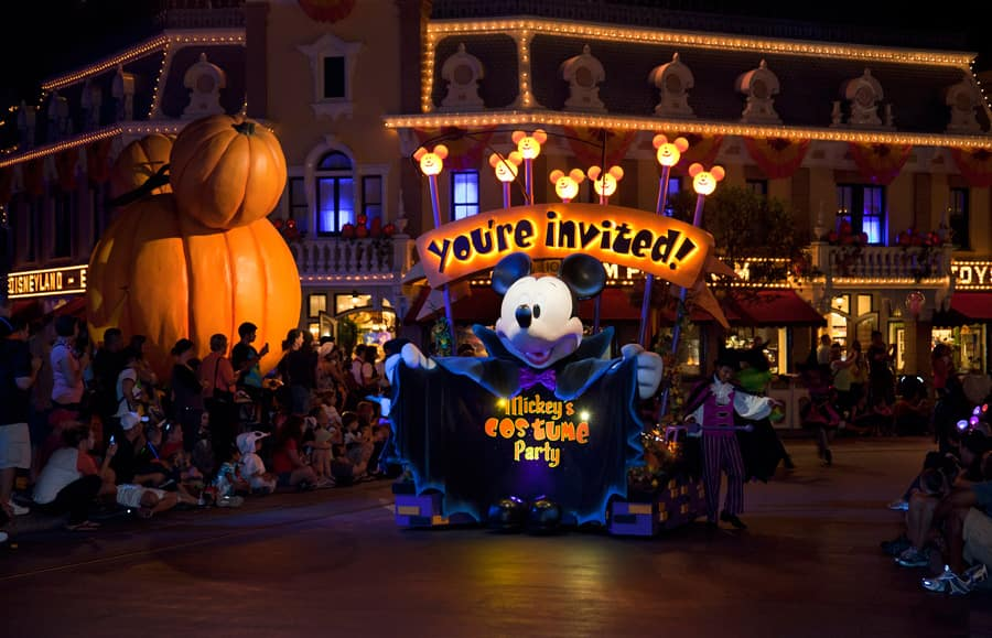 mickeys costume party cavalcade at mickeys halloween party in disneyland park