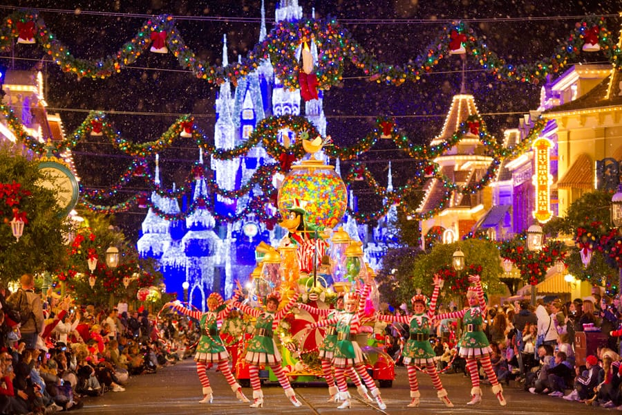 mickeys very merry christmas party returns one month from today at magic kingdom park - Disney World Christmas Decorations 2017
