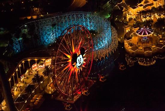 Disney Parks After Dark: Flying High Above Paradise Pier at Disney California Adventure Park