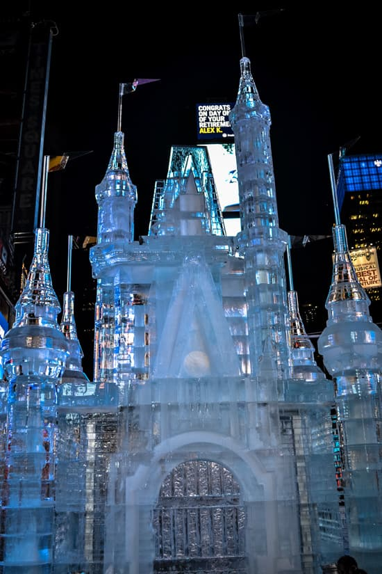 Giant Ice Castle In Times Square Kicks Off Limited Time