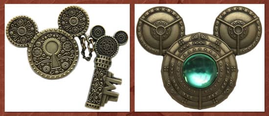 The Mechanical Kingdom Inspires New Merchandise at Disney Parks, Including Steampunk-Inspired Open Edition Pins