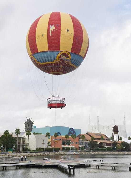 The New 'Characters In Flight' Balloon at Downtown Disney at Walt Disney World Resort