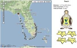 Peach's Tour de Turtles Map from Disney's Vero Beach Resort
