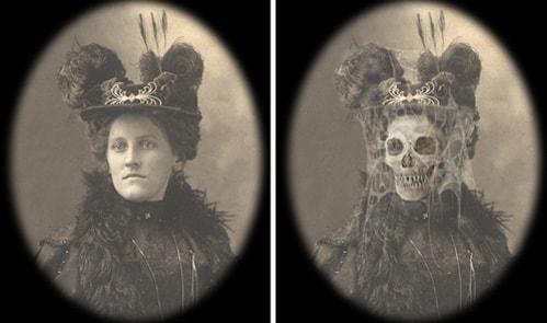 A Haunted Memories Changing Portrait by Eddie Allen at WonderGround Gallery in the Downtown Disney District