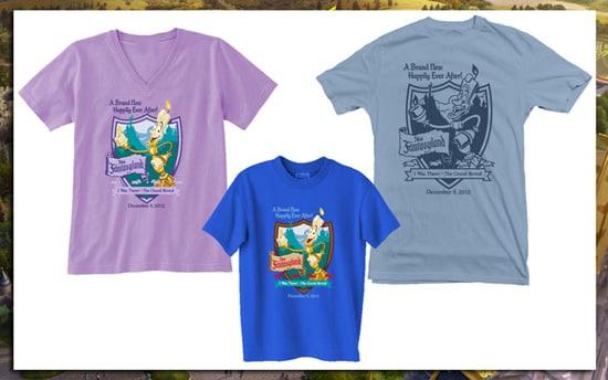 Shirts Commemorating the Grand Opening of New Fantasyland at Magic Kingdom Park on December 6