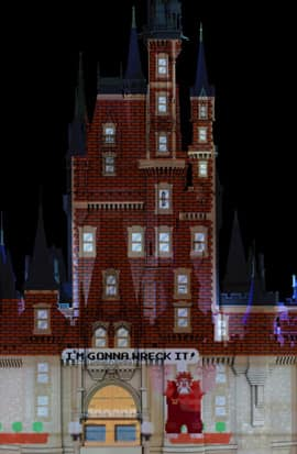 Scenes from 'Wreck-It Ralph' in 'Celebrate the Magic' at Magic Kingdom Park