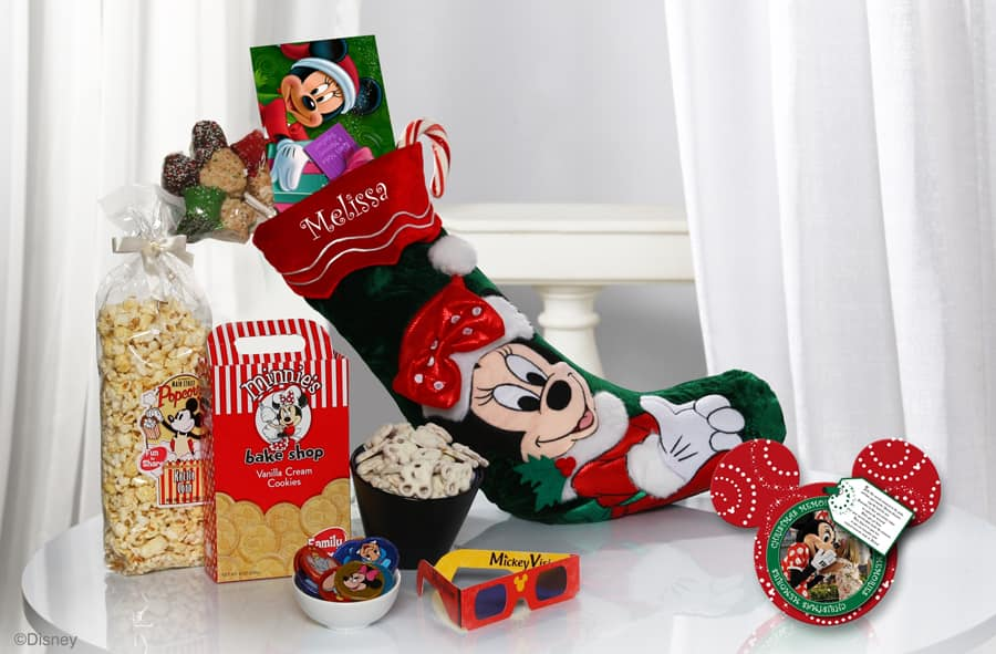 minnies stocking of surprises available from disney floral gifts