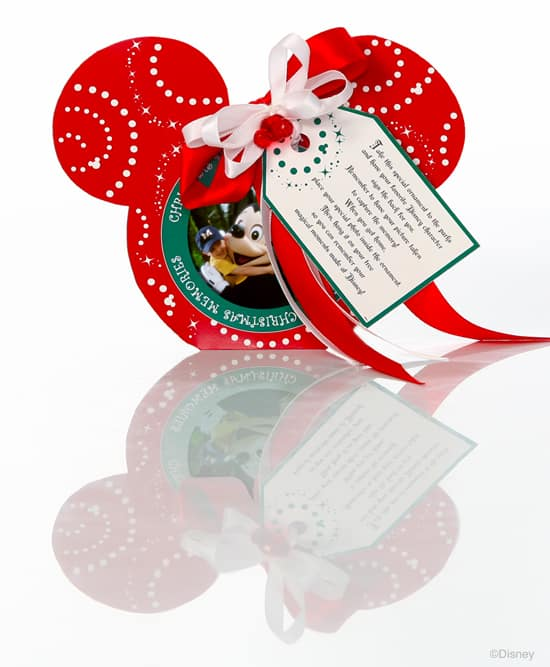 Mickey Mouse Picture Frame Ornament Available from Disney Floral & Gifts
