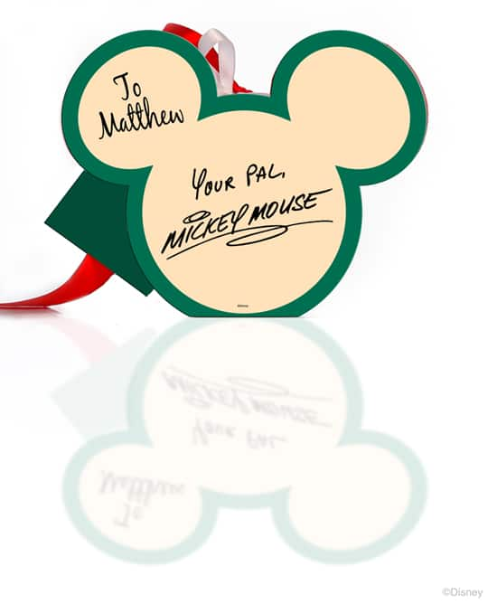 Back of Mickey Mouse Picture Frame Ornament Available from Disney Floral & Gifts
