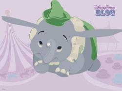Dumbo the Flying Elephant Desktop Wallpaper
