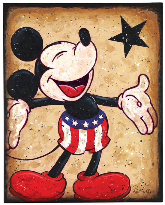 Look for 'Patriotic Pal,' Featuring Mickey Mouse in Red, White and Blue, at This Year's Festival of the Masters