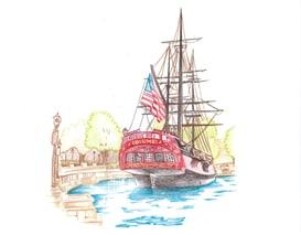 Columbia Artist Sketch Featured at Galleries in the Disneyland Resort