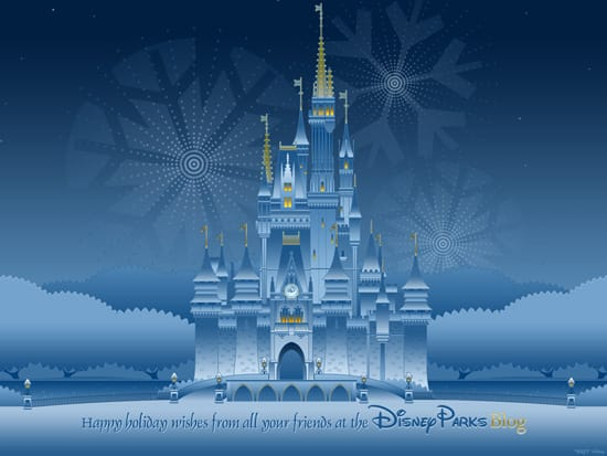Download Our Disney Parks Happy Holidays Wallpaper Disney Parks Blog