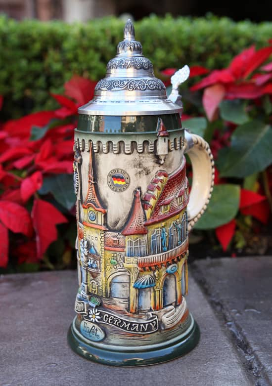 Stein Inspired by the Germany Pavilion at Epcot