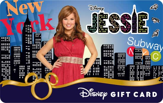 'Jessie –Livin' the Jessie Life' Disney Gift Card