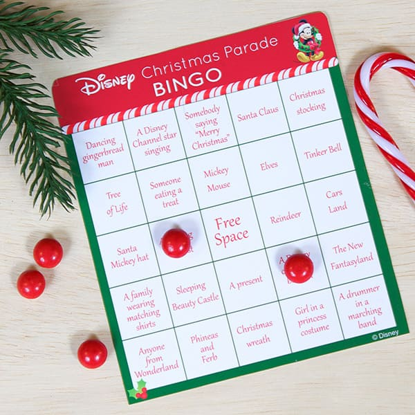 the disney parks christmas day parade bingo game from our friends at spoonfulcom - Christmas Day Games