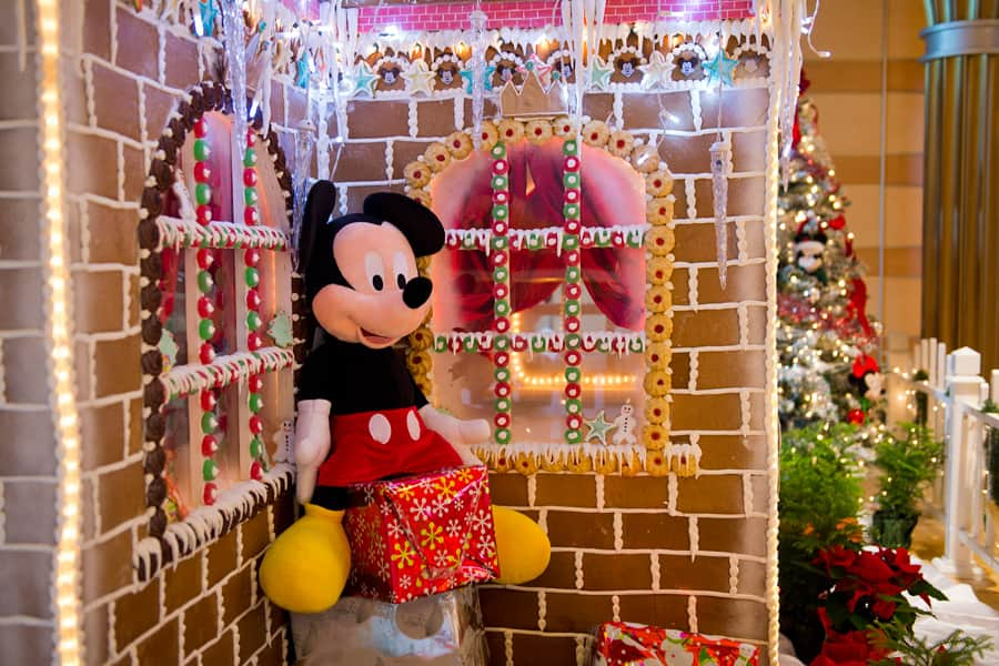 the 237 square foot gingerbread house on the disney dream - Disney Themed Christmas Decorations
