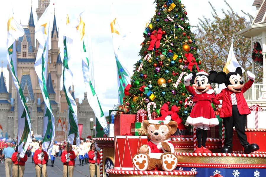 disney parks christmas day parade taping at walt disney world resort